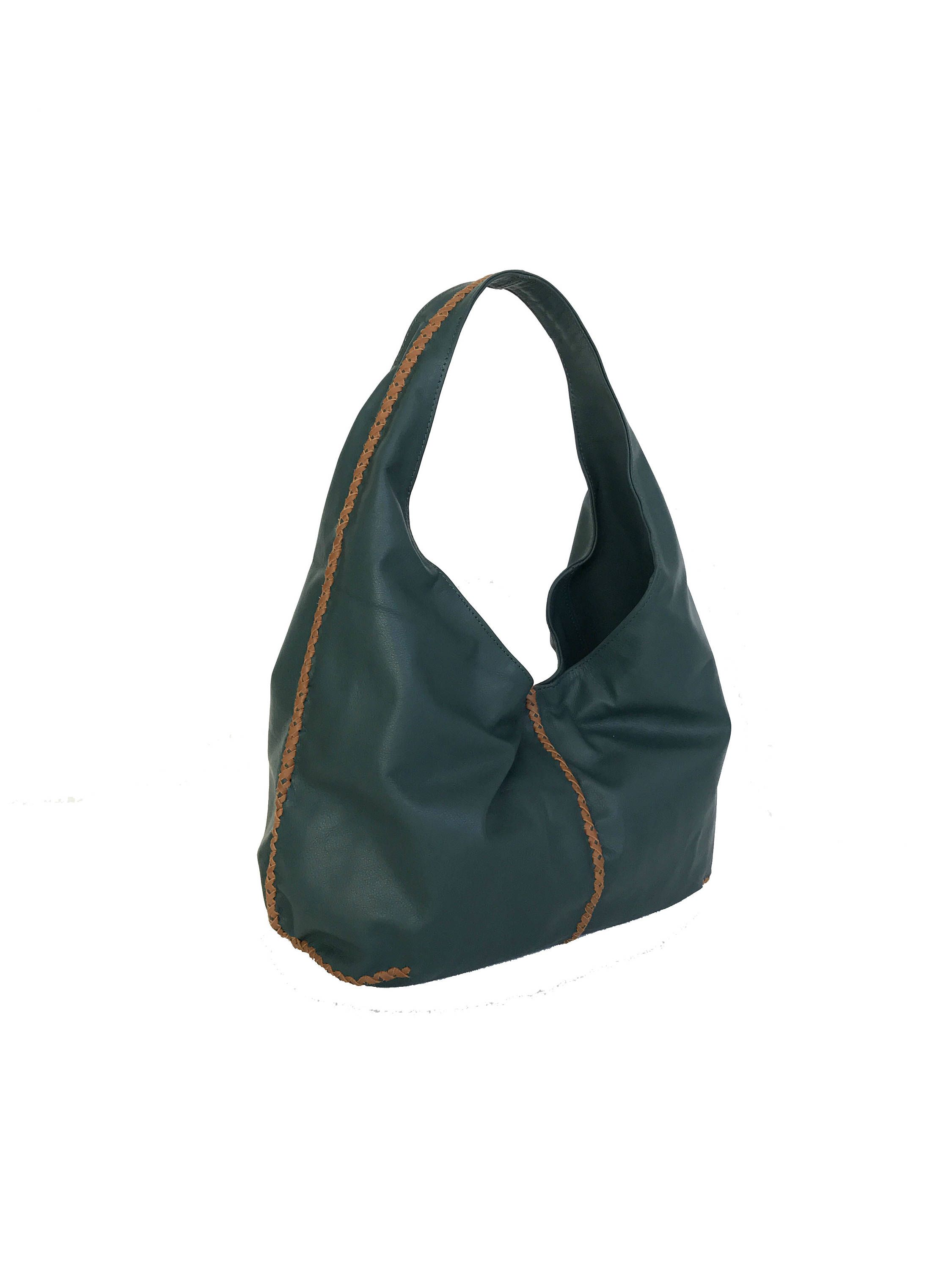 Green Leather Hobo Bag c9fe50f303340