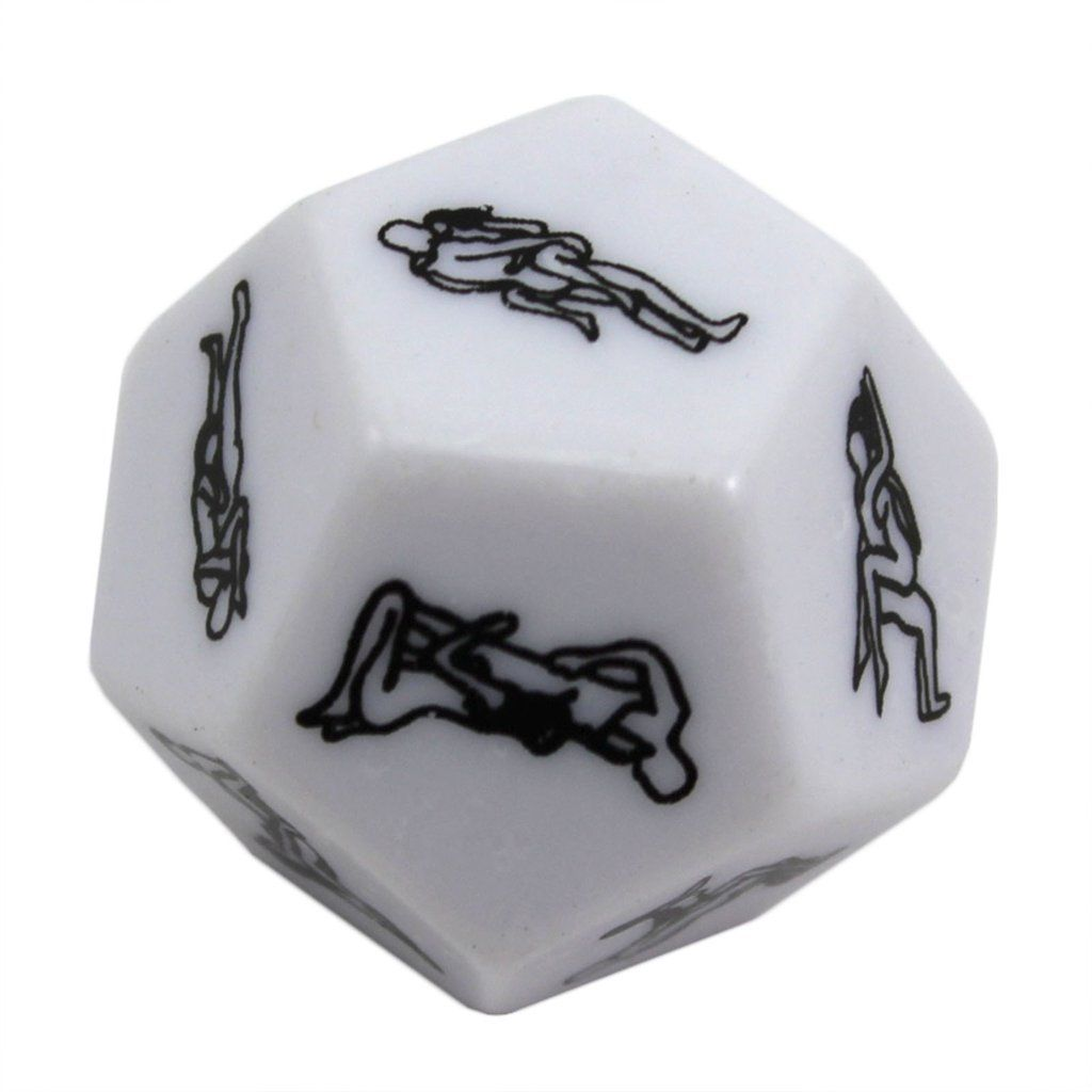 12 Sides Game Flirt Fun Toy Gambling Party White Funny