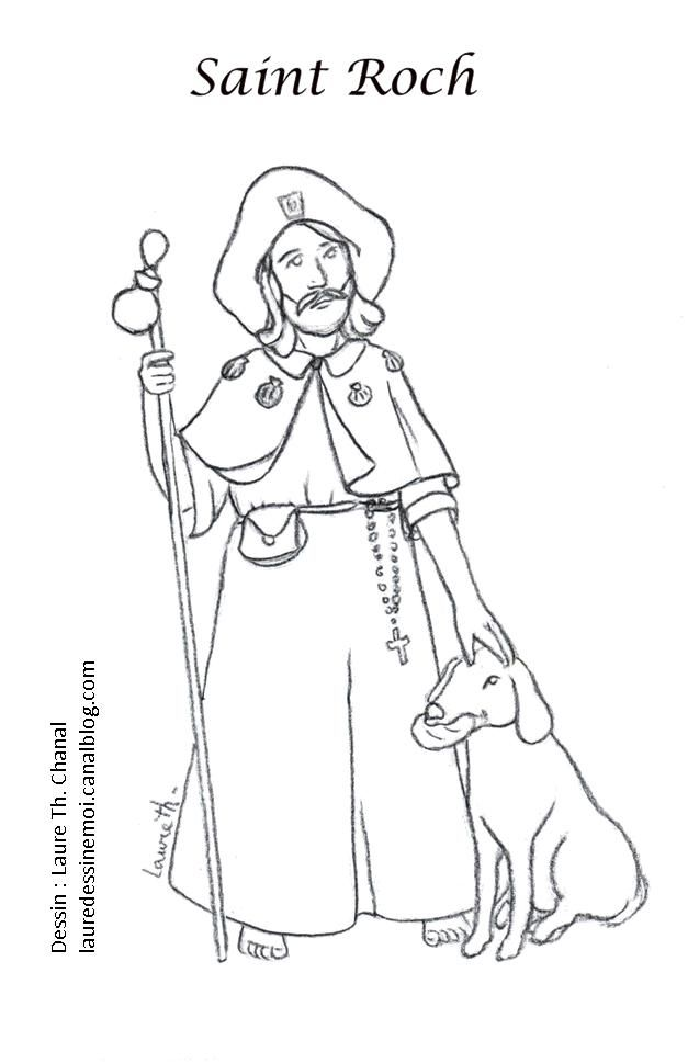 Saint Roch Catholic Coloring Page | Saints Coloring Pages | Catholic ...