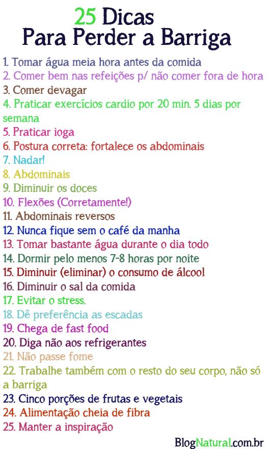 Dieta para perder barriga rapida