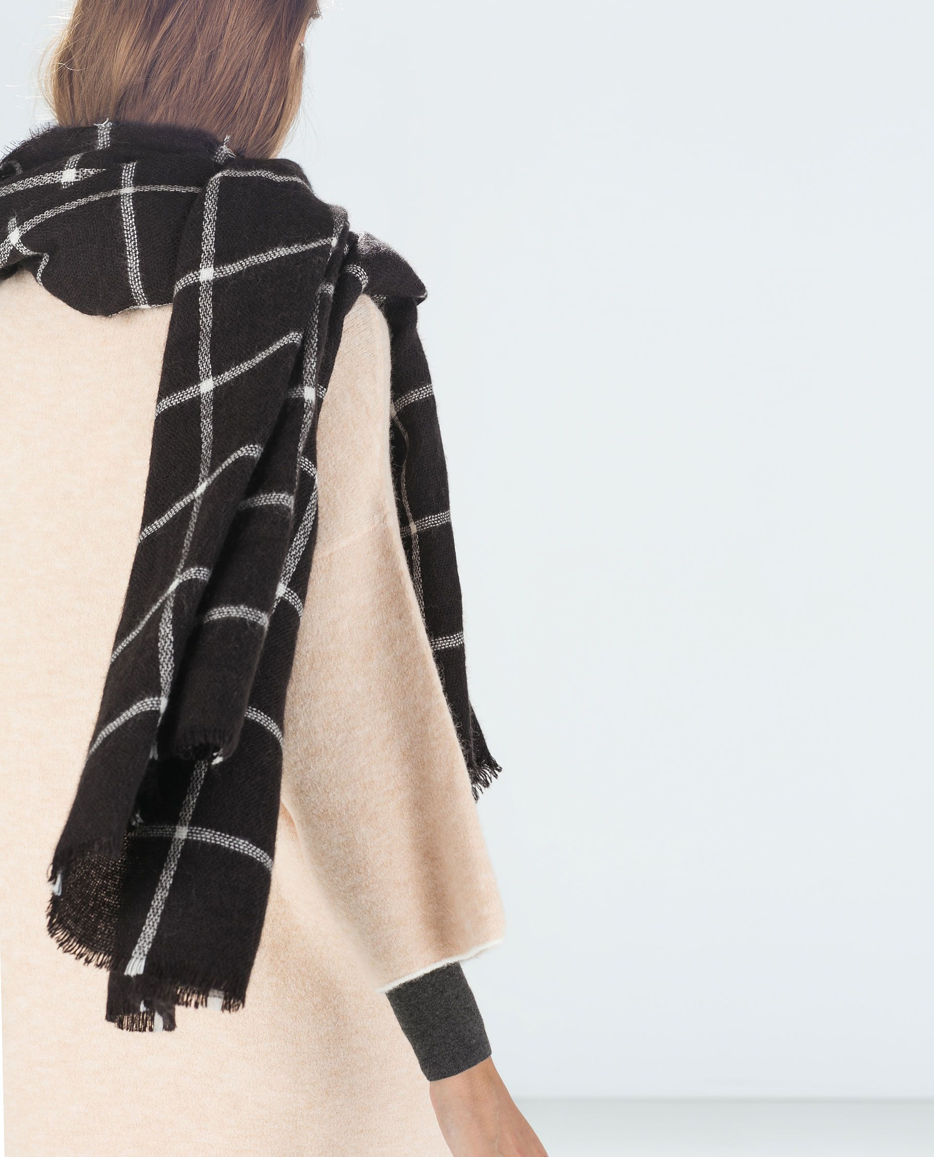 dde49f745bac Image 2 of CHECKED SCARF from Zara   I love, I want, I must have ...
