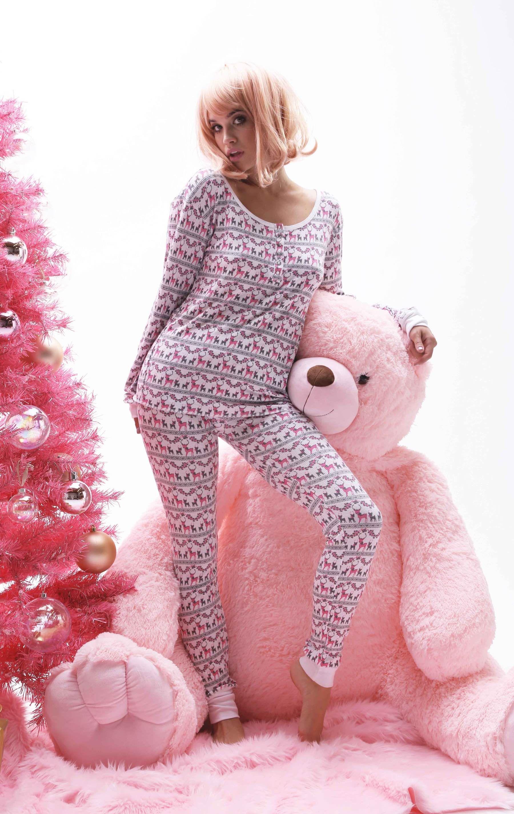 Wildfox Christmas Pajamas.Wildfox Pink Christmas Intimates Pink Christmas Ski