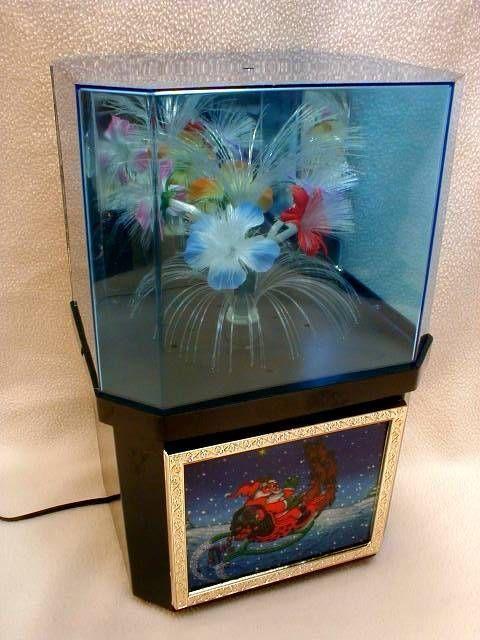 Vintage Retro Fiber Optic Color Changing Motion Flower Light Lamp Box Large Size