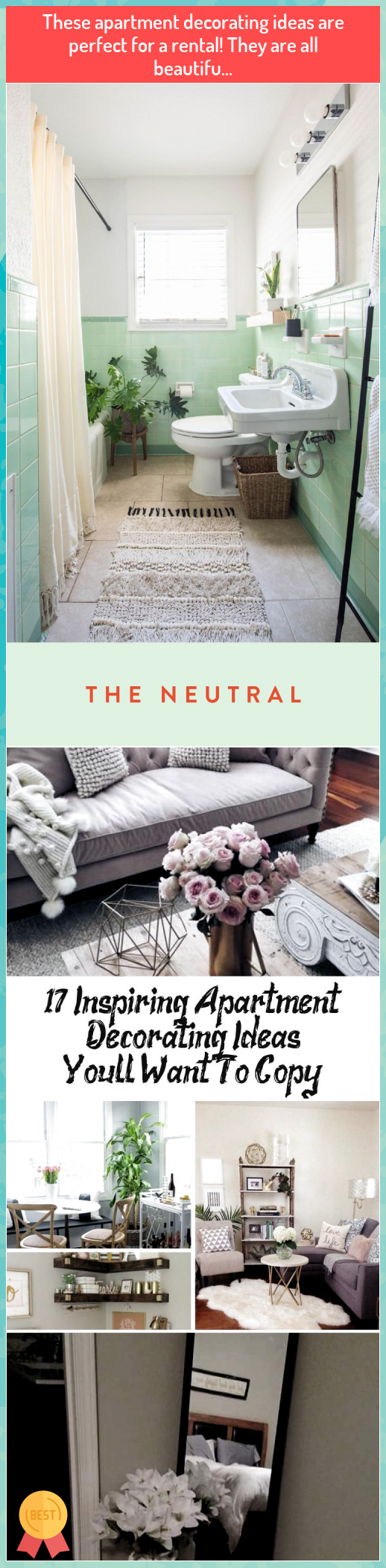 These apartment decorating ideas are perfect for a rental! They are all beautifu... #These #apartment #decorating #ideas #are #perfect #for #rental! #They #are #all #beautifu...