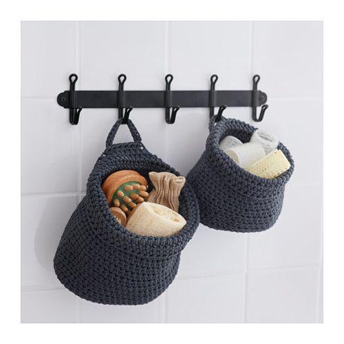 NORDRANA Basket, set of 2, gray Organizations, Bathroom - ikea sideboard k amp uuml che