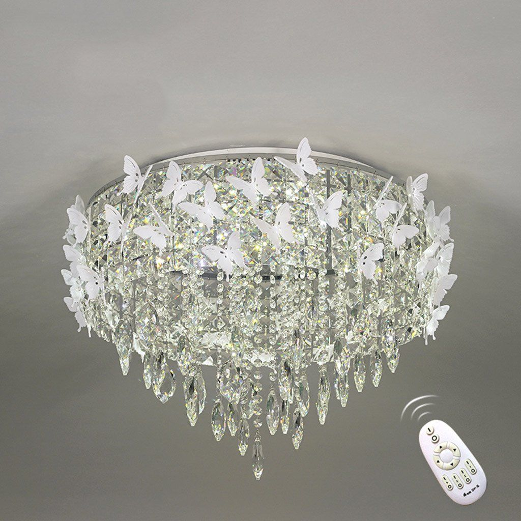 Lofami Modern Led Crystal Luxury Ceiling Lamp Butterfly Romantic Living Room Restaurant Child Bedroom Cha With Images Luxury Chandelier Metal Chandelier Chandelier Bedroom