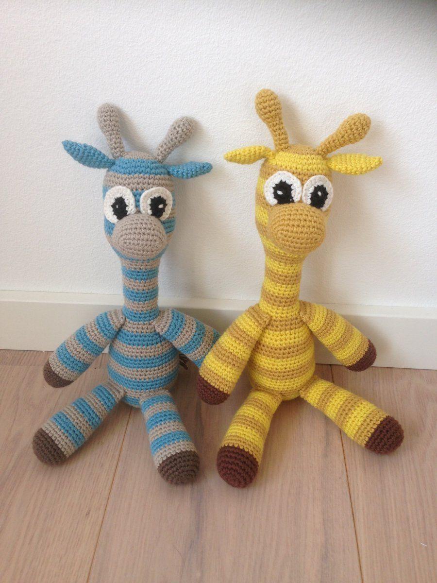 hæklet giraf gratis opskrift