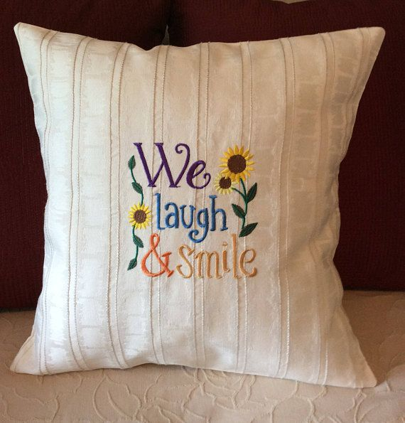 Decorative Pillow Cover Free Shipping Embroidered We Laugh Magnificent Joann Fabrics Pillow Covers