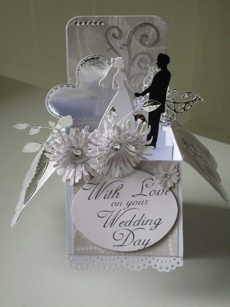 Pin By Lydia Hepfl On Popped Up Wedding Cards Handmade Card Box Wedding Wedding Cards