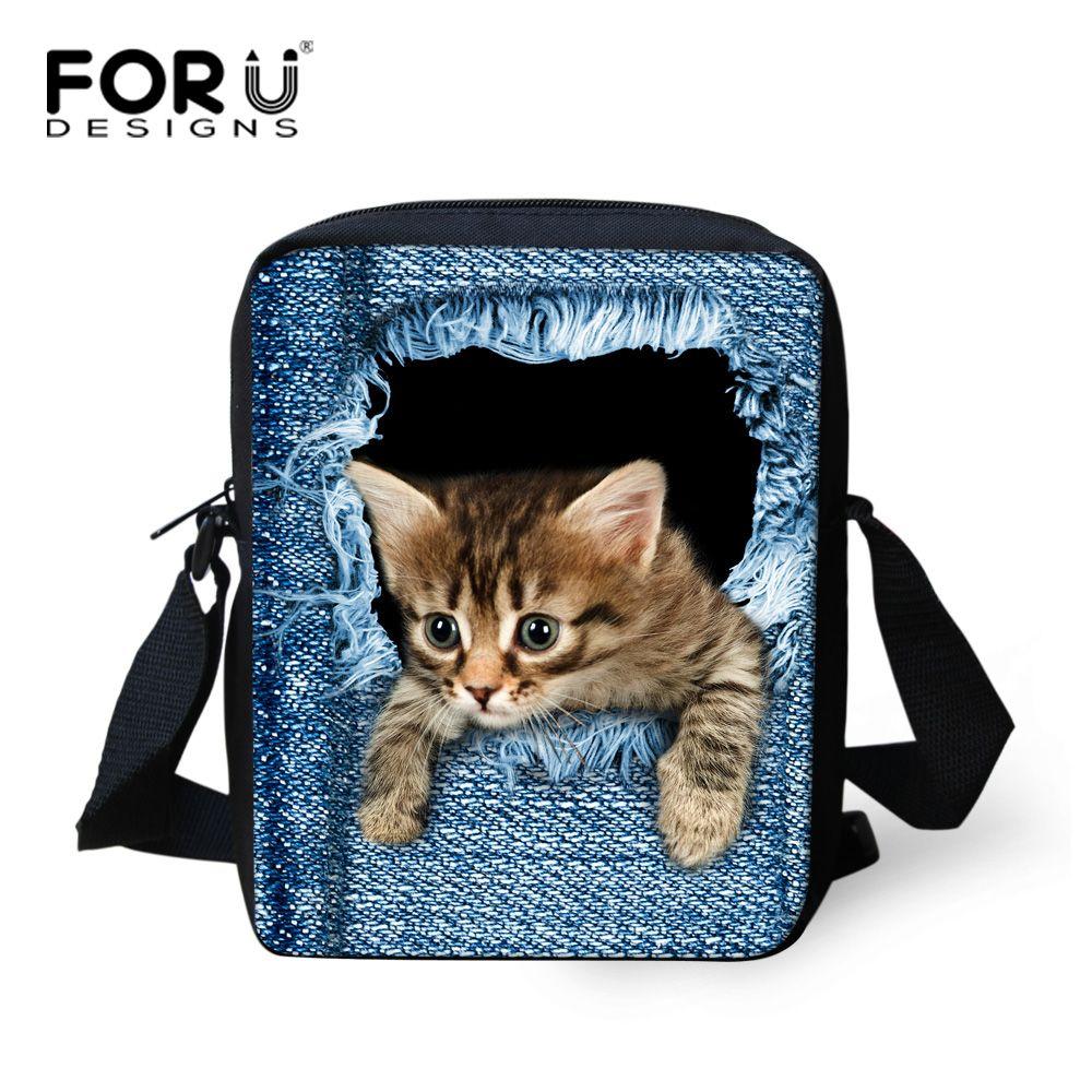 Brand Designer Women Messenger Bags Pet Dog Cat Printing Girls Cross Body Bag Cute French Pug Bulldog Crossbody Bag for Woman