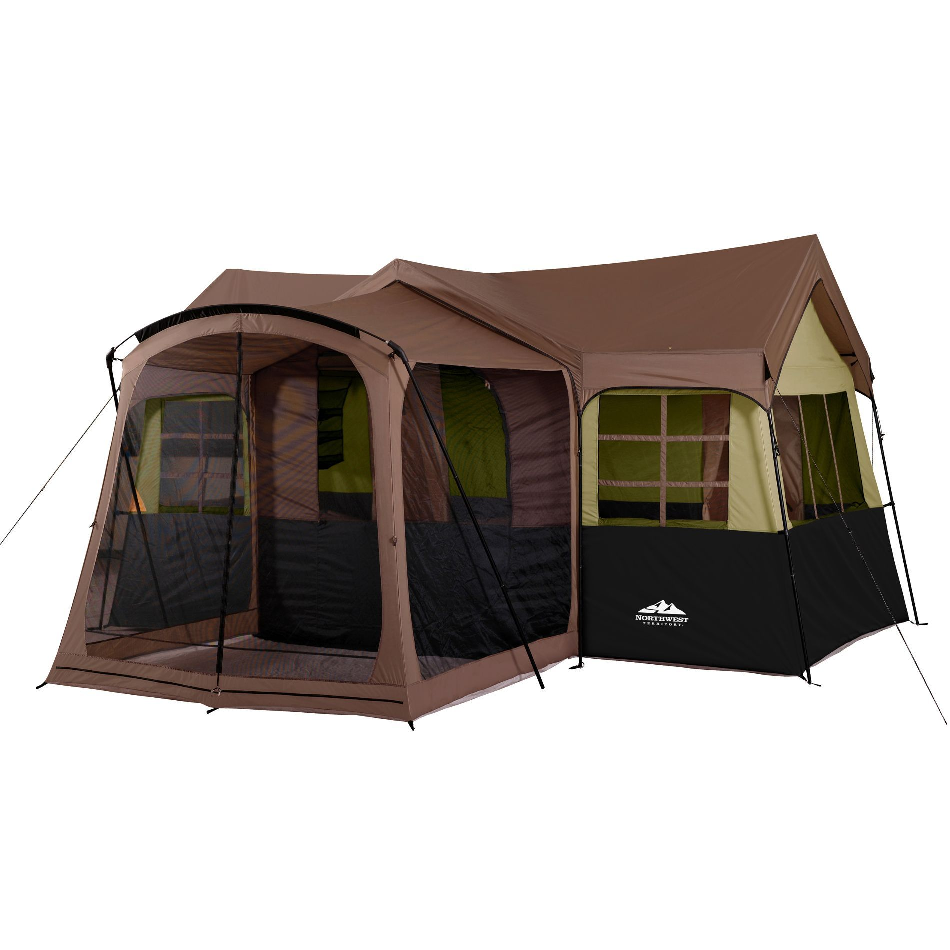 This Big Sky Lodge Family Cabin Has A Large And Comfy Screen House Porch To Provide Bug Free Enjoyment Of Porch Tent Family Tent Camping Best Tents For Camping