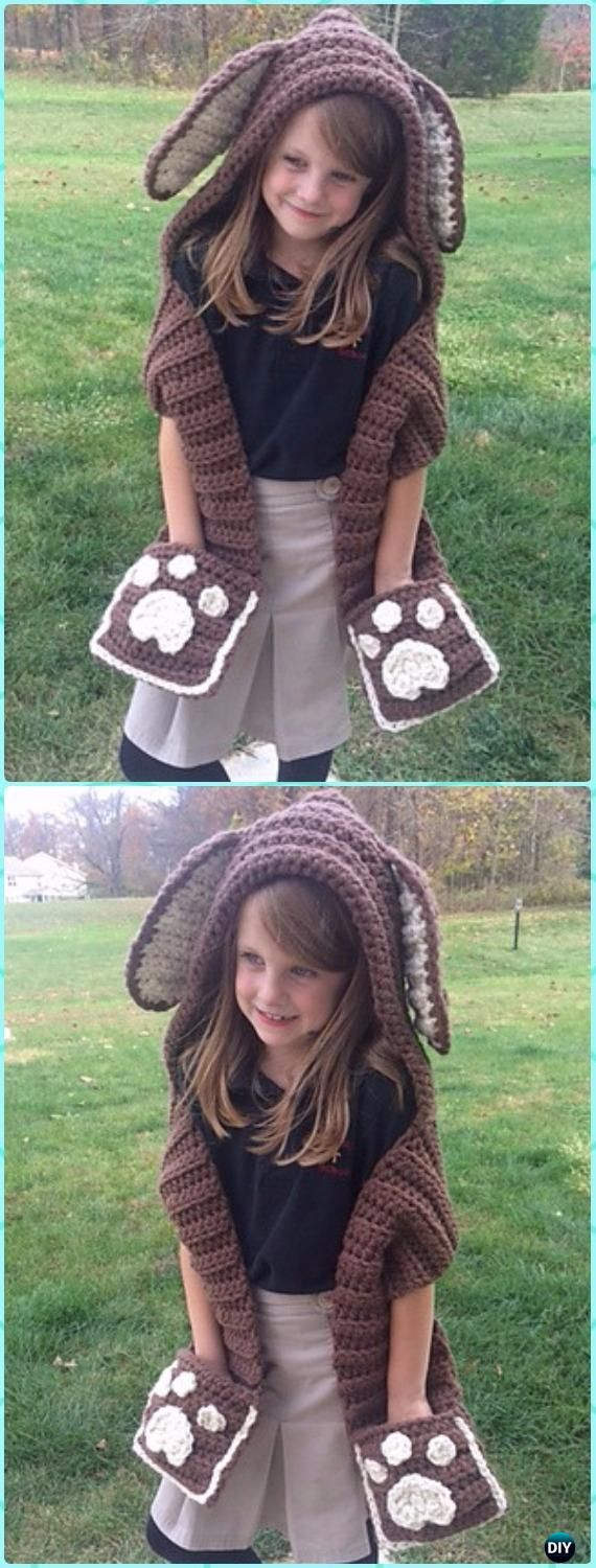 Crochet Puppy Scoodie Paid Pattern - Crochet Hoodie Scarf Patterns ...