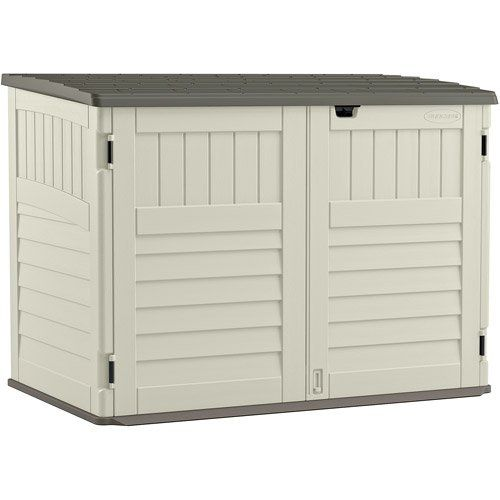 Walmart Trash Cans Outdoor Alluring Highquality Steelreinforced Toter Trash Can Shed 3Door Locking
