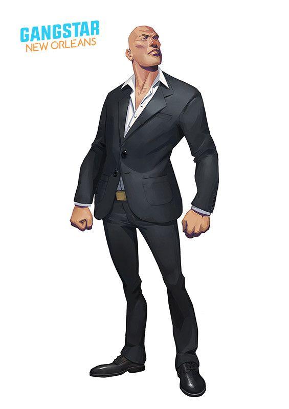 Artstation Gameloft S Gangstar New Orleans Concepts Quentin Gautier New Orleans Man Character Gautier