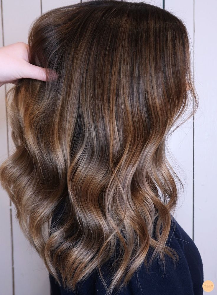 Brown hair with highlights and soft ombre Rich brown