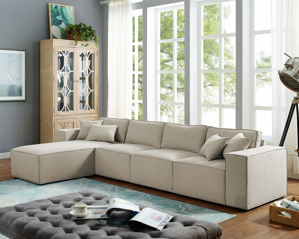 Gracie Oaks Neary Reversible Modular Sectional Wayfair Sectional Sofa Wayfair Living Room Sets Couches Living Room Sectional