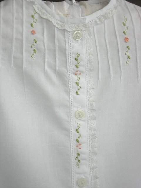 Baby gown embroidery babies and hand