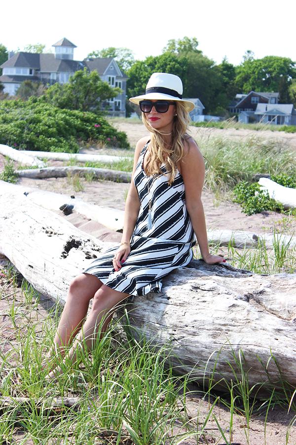 821735d1138d Style    H M Dress + Target Panama Hat