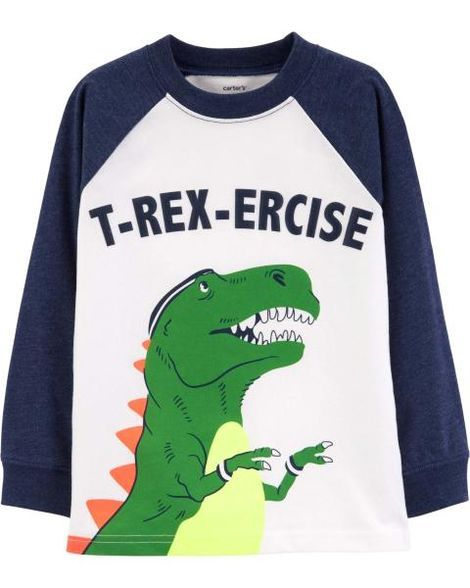 42fe3664a T-Rex-Ercise Raglan Tee   Clothes,shoes, etc.- boy   Raglan tee ...