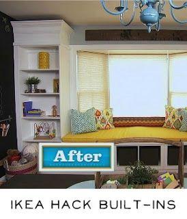 Bay Window Transformation Into Window Seat Reading Area Library Diy Ikea Hack Builtins Ikea Hack Built In Bookcase Home Diy
