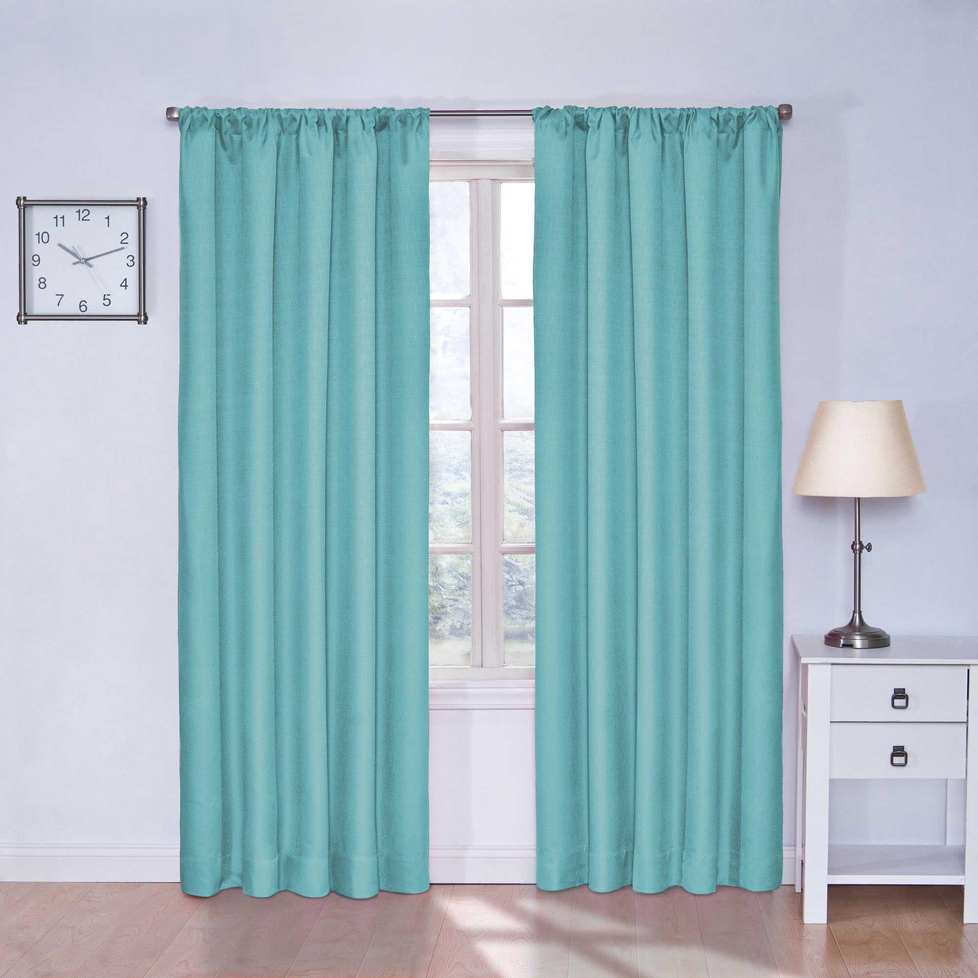 Solarshield kate inch rod pocket room darkening window curtain