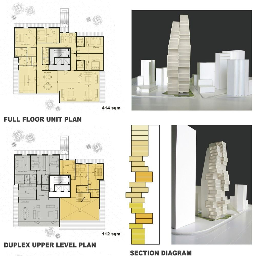 Beirut residential building accent design groupplans model inspiration for residentail tower also best home images architecture models concept rh pinterest