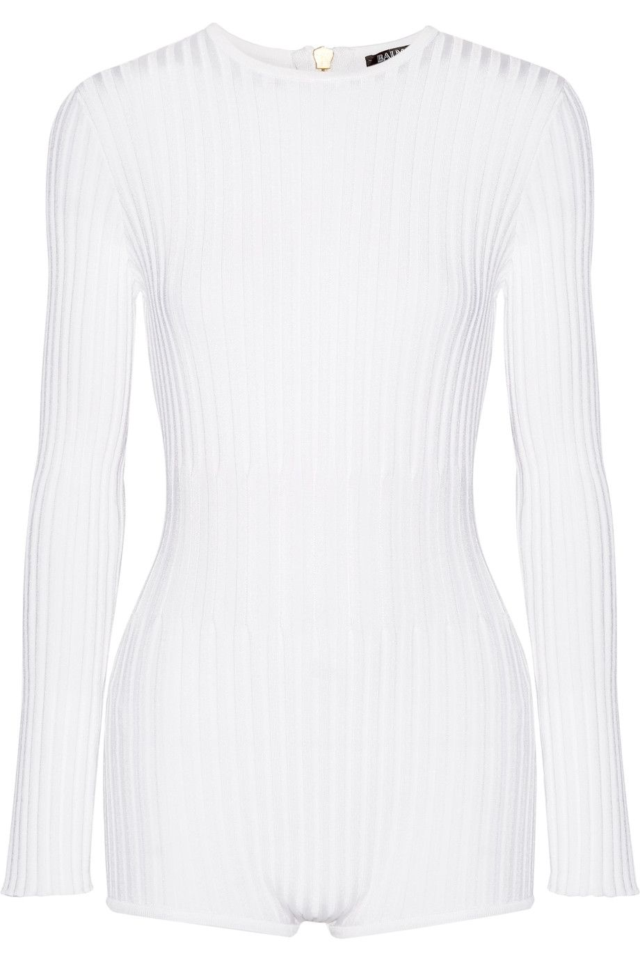41b41f77207 BALMAIN Ribbed stretch-knit bodysuit.  balmain  cloth  bodysuit ...