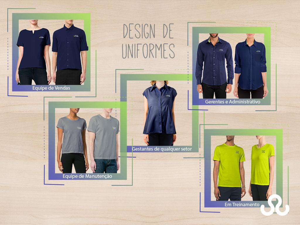 7f1a1f2c6cf8e Design de uniformes da marca Óticas Brasil