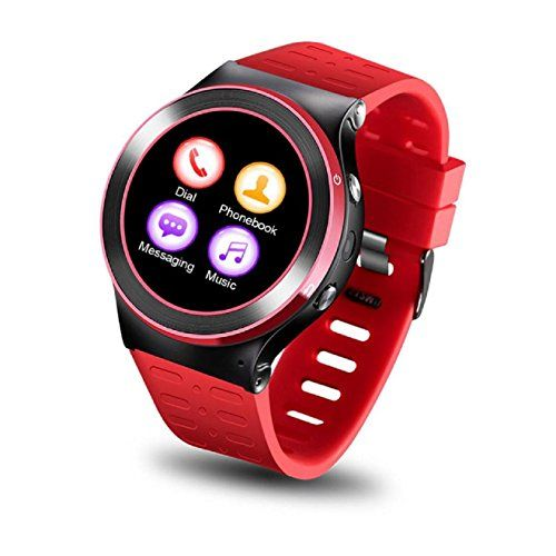 Koozimo S99 Gsm 8g Quad Core Android 51 Smart Watch With 50 Mp Camera Gps Wifi Red More Info Could Be Fou Smart Watch Smart Watch Android Sedentary Reminder