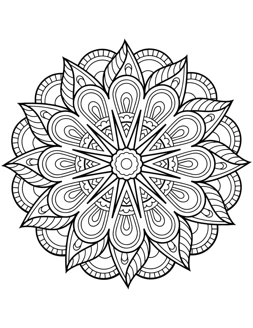 Flower Mandala Coloring Pages Best Coloring Pages For Kids Mandala Coloring Pages Printable Coloring Book Mandala Coloring