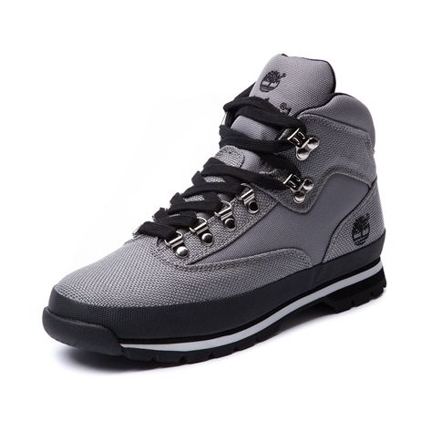 Mens Timberland Canvas Euro Hiker Boot Gray Journeys Shoes Sneakers Men Fashion Timberland Boots Outfit Boots Men