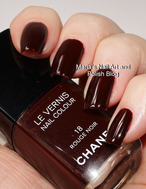 Chanel Rouge Noir 18 | Page Loves Nail Polish | Colors chanel, Dior ...