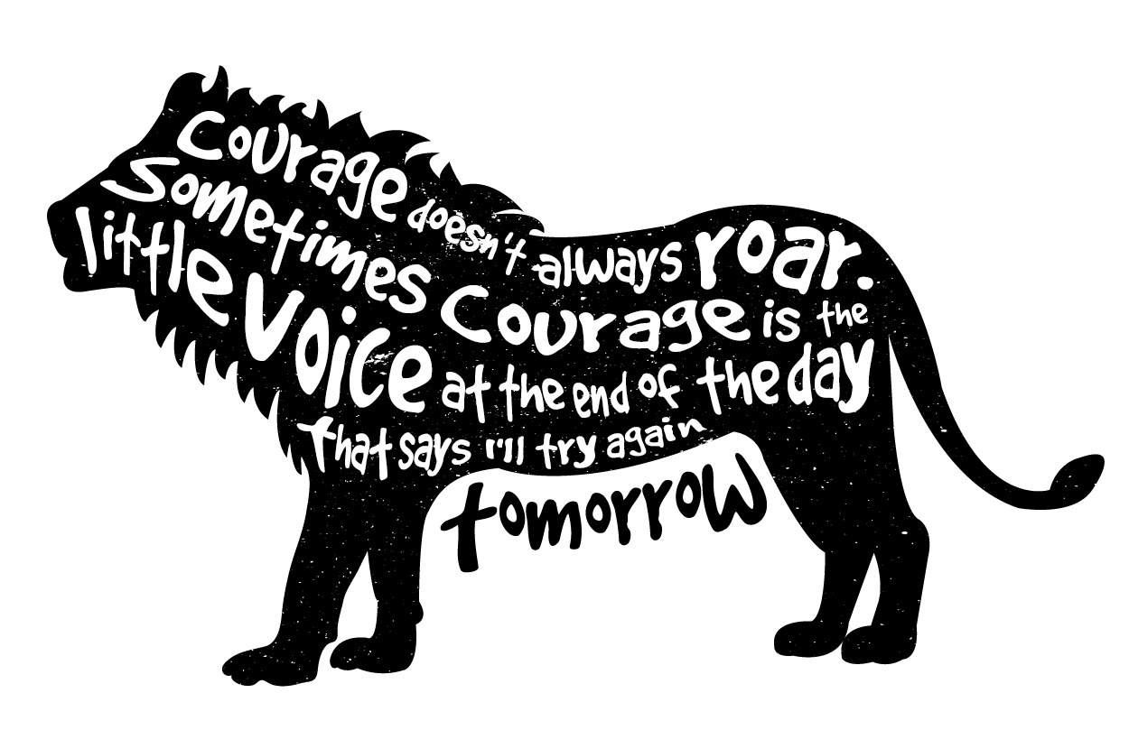 illustration text saying quote