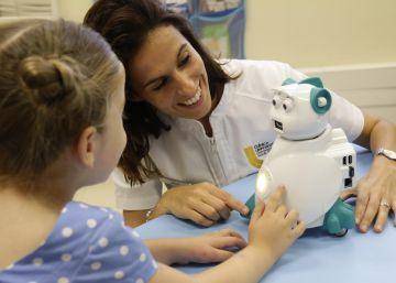 Terapia con robots para niños con autismo.