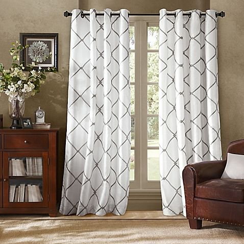 Bombay Garrison 63 Inch Grommet Window Curtain Panel In Pewter Curtains White Paneling Panel Curtains