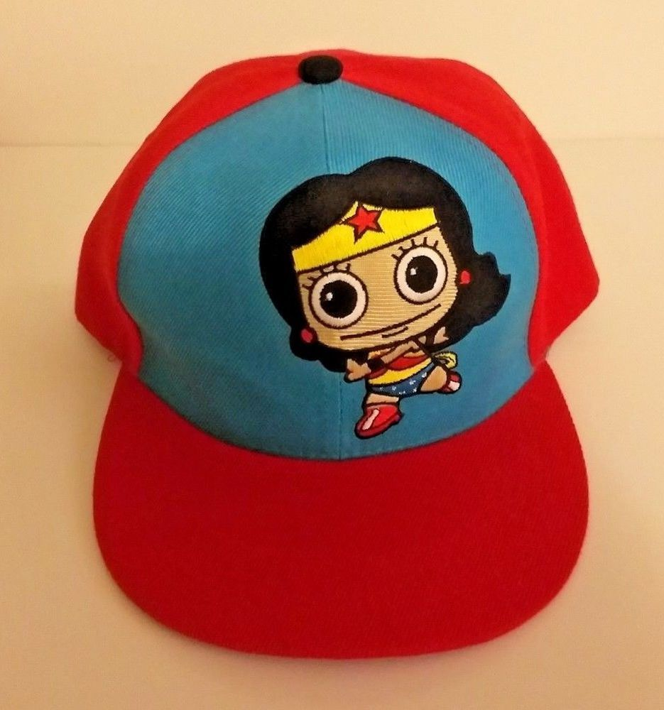 fad5094dc SIX FLAGS Wonder Woman Baseball Snapback Cap Trucker Hat Red ...