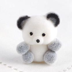Miniature Flocked Baby Panda Bears - Animal Miniatures - Dollhouse Miniatures - Doll Supplies - Craft Supplies #babypandabears Click Here For A Larger View #babypandabears