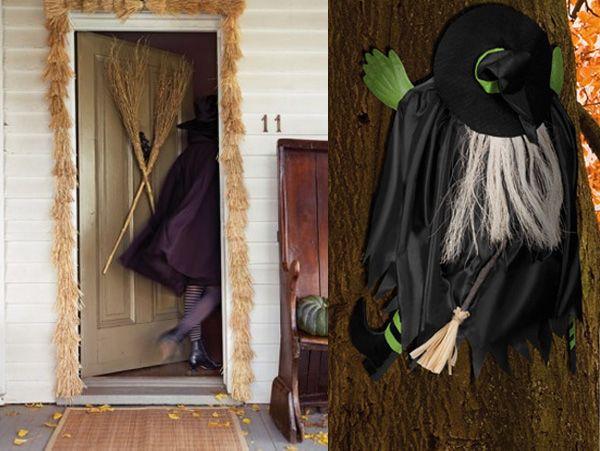Decoracion de halloween de brujas buscar con google for Puertas decoradas con dinosaurios