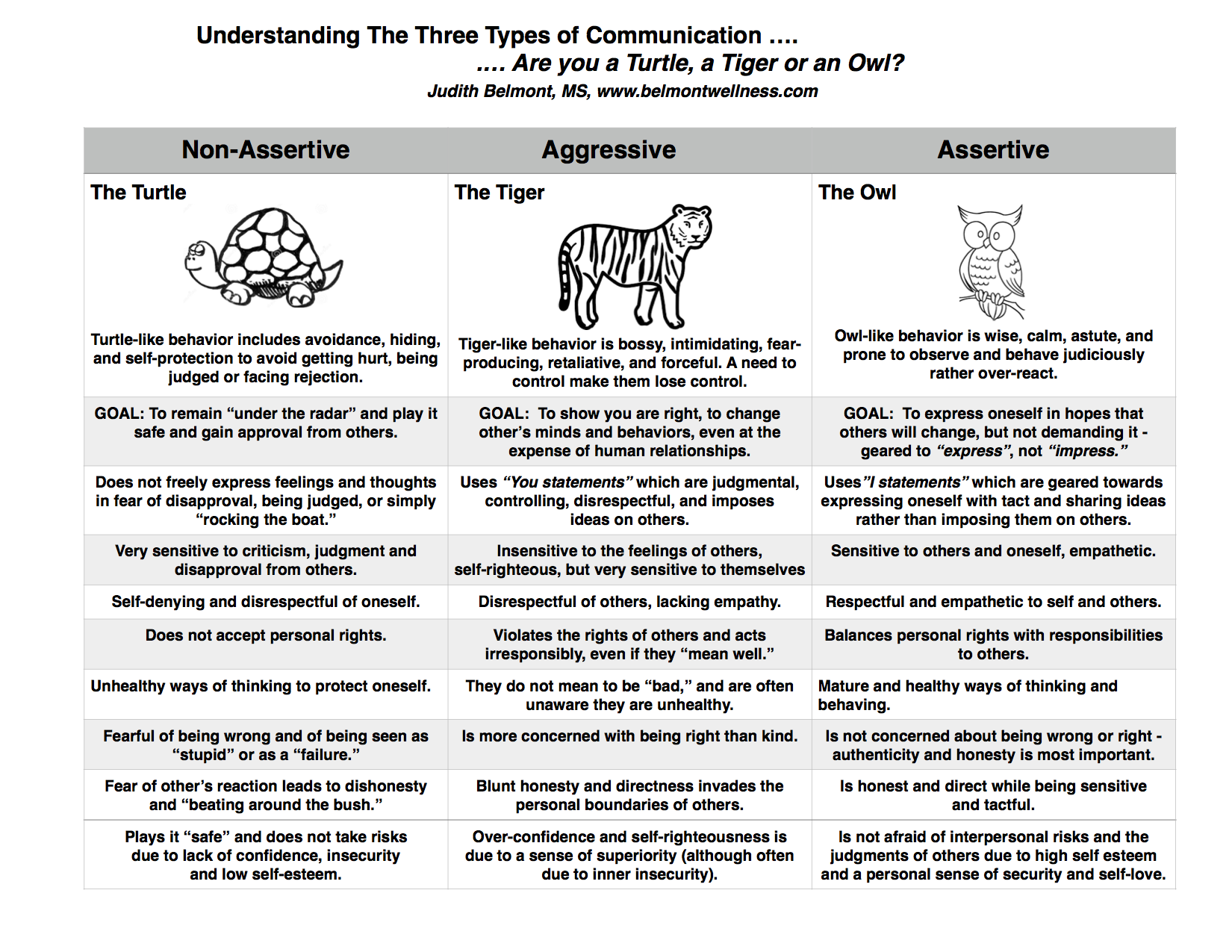 Uncategorized Assertive Communication Worksheet are you a turtle tiger or an owl mental health experiences psychoeducational handouts quizzes and group activities therapy activitiescommunication activitiestherapy worksheetstherap