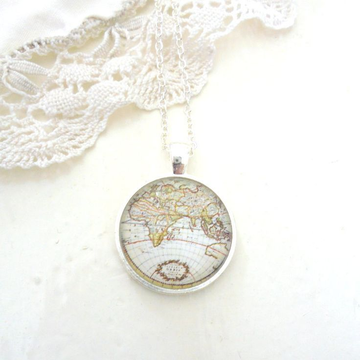 Antiqued map necklace traveller necklace world map necklace vintage antiqued map necklace traveller necklace world map necklace vintage map jewelry vintage style explorer necklace ocean gumiabroncs Gallery