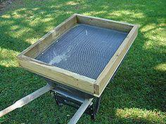 Green Plastic Garden Sieve Riddle Sifter For Compost Soil Gravel Stone Hot UK