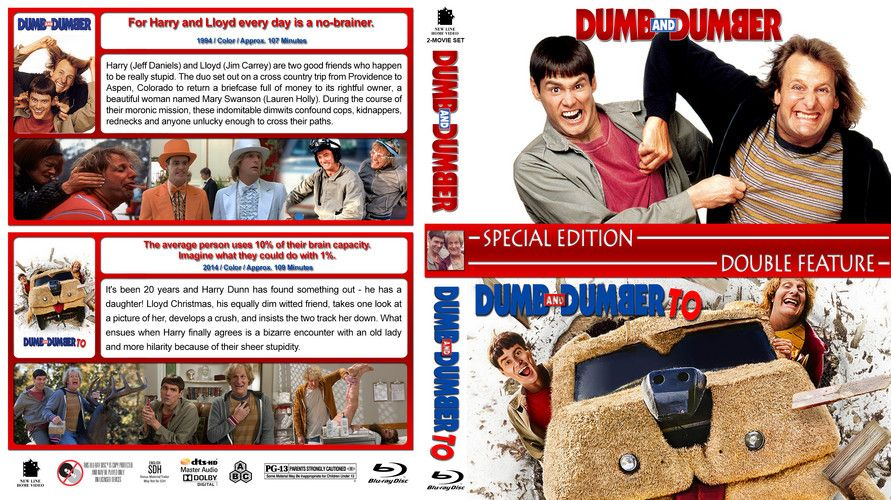 Dumb Amp Dumber Double Feature Custom Blu Ray Cover Blu Ray Collection Dumb And Dumber Blu Ray