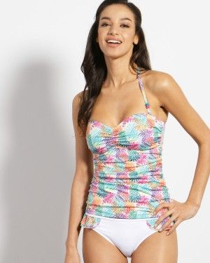 Tankini Top with funky pineapples for surfer girl.