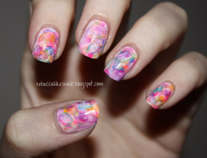Finally learned how to do water color nails! | Books Worth Reading ...