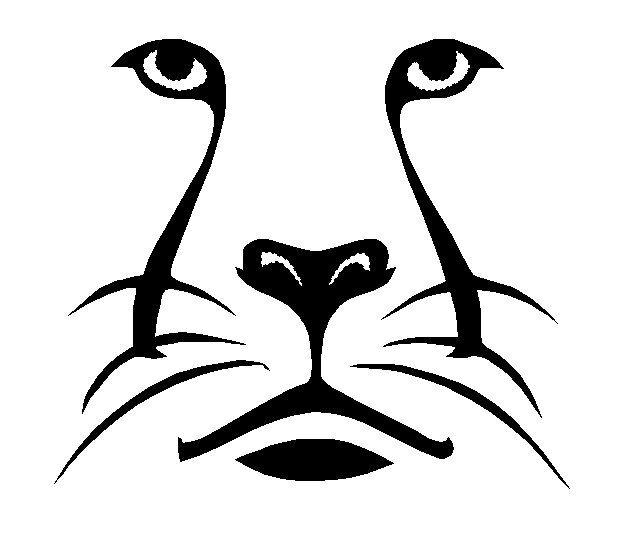 Big Cat Fill Outline Machine Embroidery Design Digitized