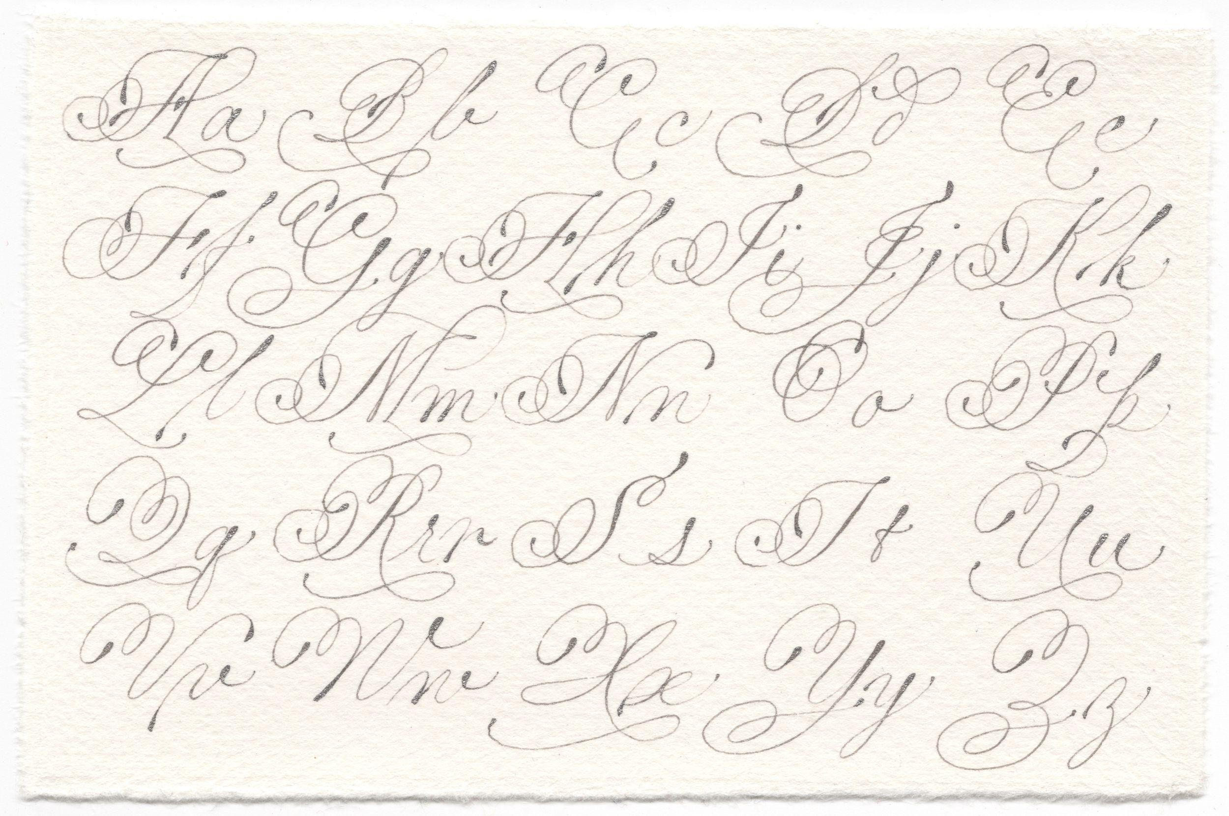 Italian Hand Exemplar Calligraphy Pointedpen