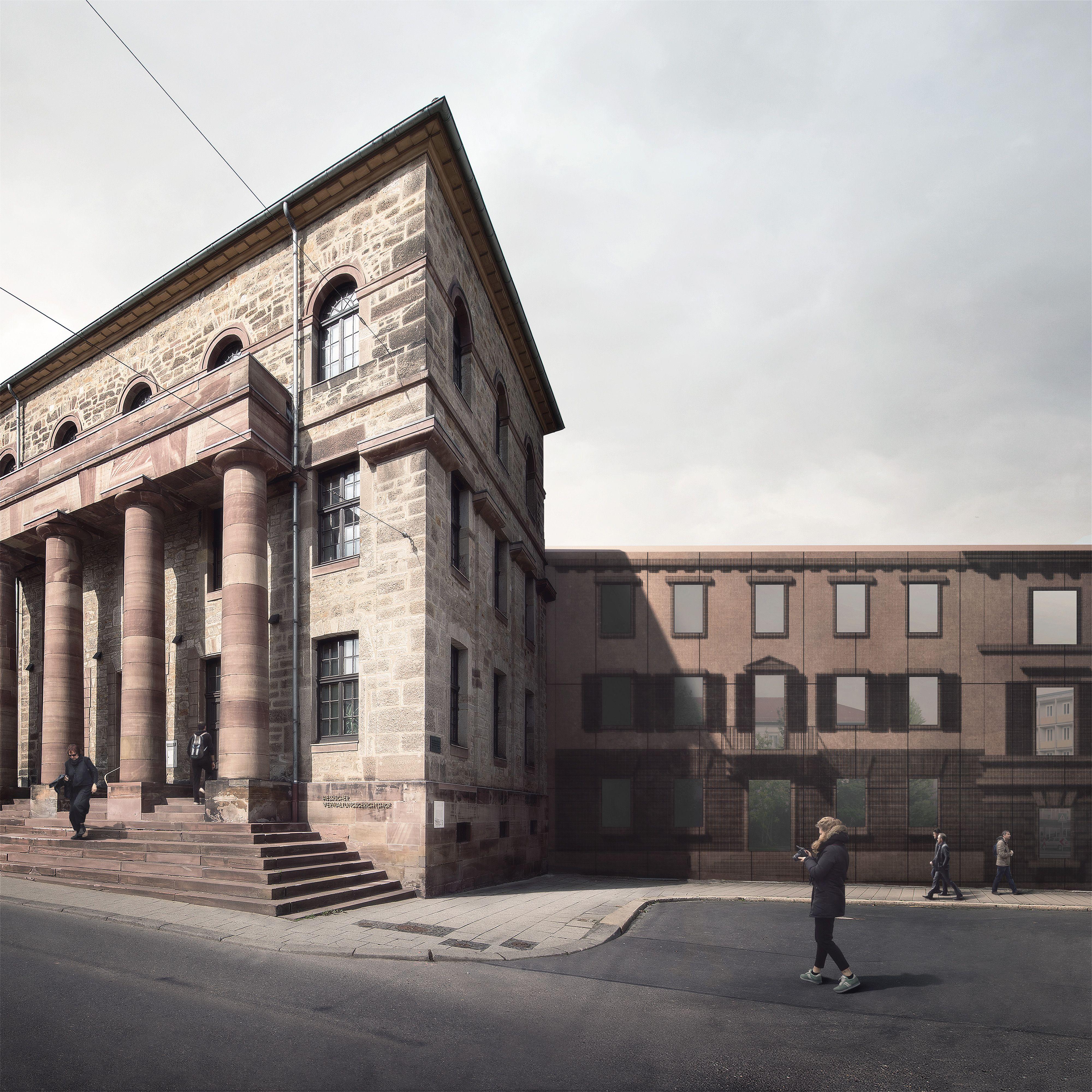 Wettbewerb Tapetenmuseum Kassel Allmann Sattler Wner Architekten Visualisierung Forbes Massie Facade Lets Go