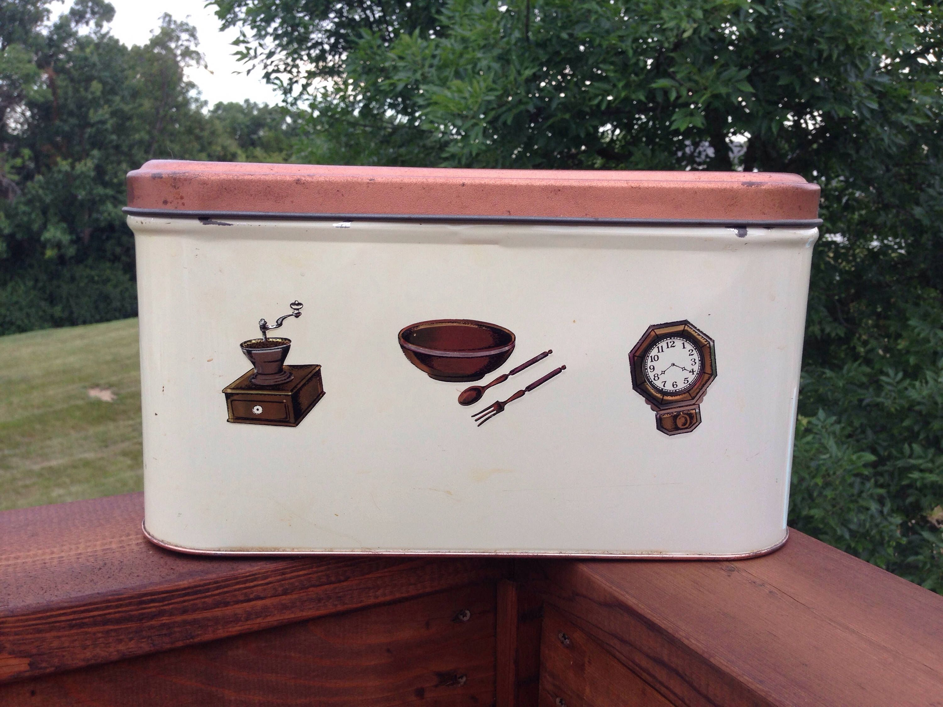 Vintage Bread Box by Tuttle Corporation Off White with