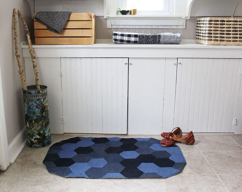 How to Sew a Denim Rug is part of Upcycled Crafts Awesome Blue Jeans - Denim is one of the most durable fabrics made and also the easiest to find for projects such