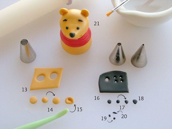 how to make a fondant winnie the pooh how to pinterest geburtstagstorte kinder. Black Bedroom Furniture Sets. Home Design Ideas